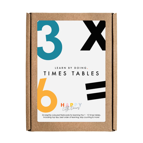 Happy Little Doers // Times Tables Flashcards - Baby and the Gang
