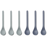 Liewood // Estu Bamboo Spoon 6 Pack // Blue Mix - Baby and the Gang