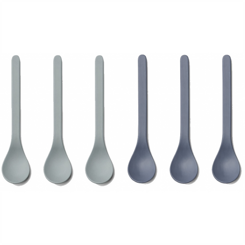 Liewood // Estu Bamboo Spoon 6 Pack // Blue Mix