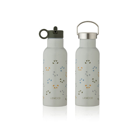 LIEWOOD // Neo Water Bottle - 500ml - Panda Dove Blue Multi Mix - Baby and the Gang