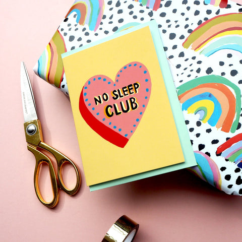 Eleanor Bowmer // No Sleep Club Card - Baby and the Gang