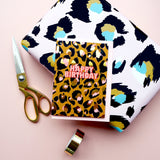 Eleanor Bowmer / /Happy Birthday Leopard Print Card