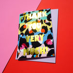 Eleanor Bowmer / / Thank You Very Much Leopard Print Card - Baby and the Gang