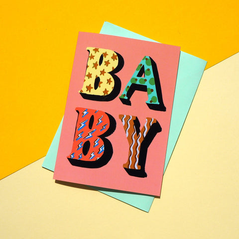Eleanor Bowmer / / Baby POP Letters Card - Baby and the Gang