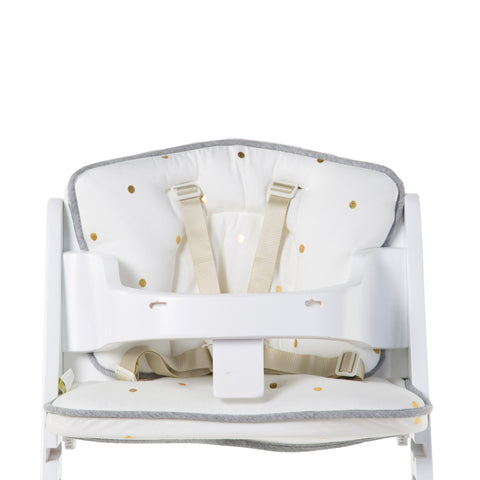 Childhome // HIGH CHAIR SEAT CUSHION - JERSEY - GOLD DOTS - Baby and the Gang