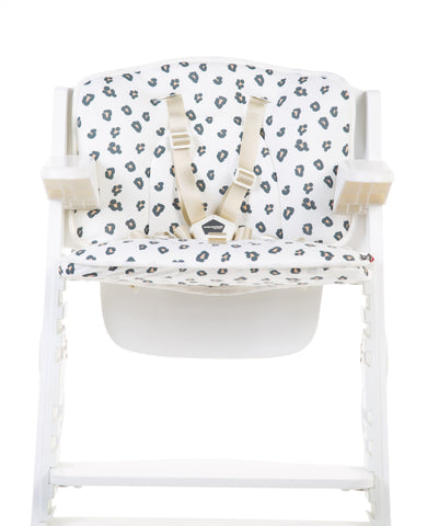 Childhome // HIGH CHAIR SEAT CUSHION - JERSEY - Leopard - Baby and the Gang