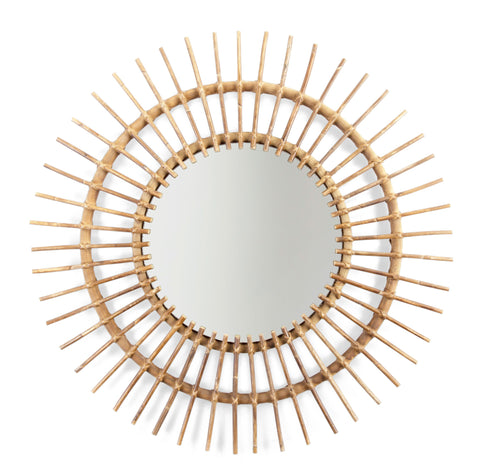 Childhome // Rattan Aura Mirror 90cm - Baby and the Gang