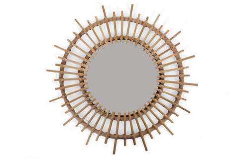 Childhome // Rattan Fondi Mirror 60cm - Baby and the Gang