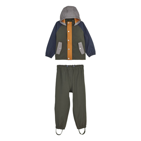 LIEWOOD // Parker Rainwear // Junior - Hunter green multi mix - Baby and the Gang
