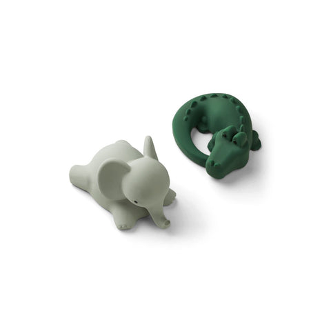 LIEWOOD // Vikky Bath Toys 2 Pack // Safari Green Mix - Baby and the Gang