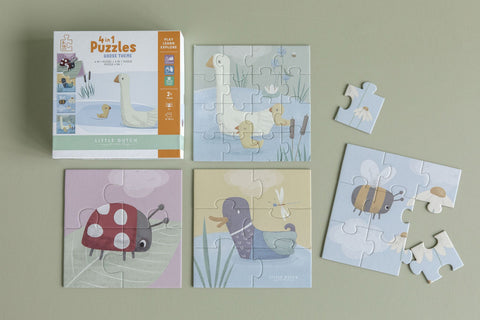 Little Dutch // 4 in a box puzzle Goose - Baby and the Gang