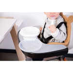 Childhome // EVOLU FEEDING TRAY // BLACK + SILICONE PLACE MAT - Baby and the Gang