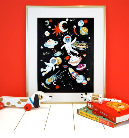Eleanor Bowmer // Space and Astronauts Print - Baby and the Gang
