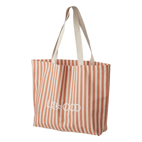 LIEWOOD // Tote Bag Big - Stripe: Tuscany Rose Stripe - Baby and the Gang