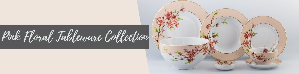Pink Floral Tableware Collection (Minh Long I)
