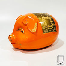 Load image into Gallery viewer, Prosperity Piggybank (Orange/Gold)