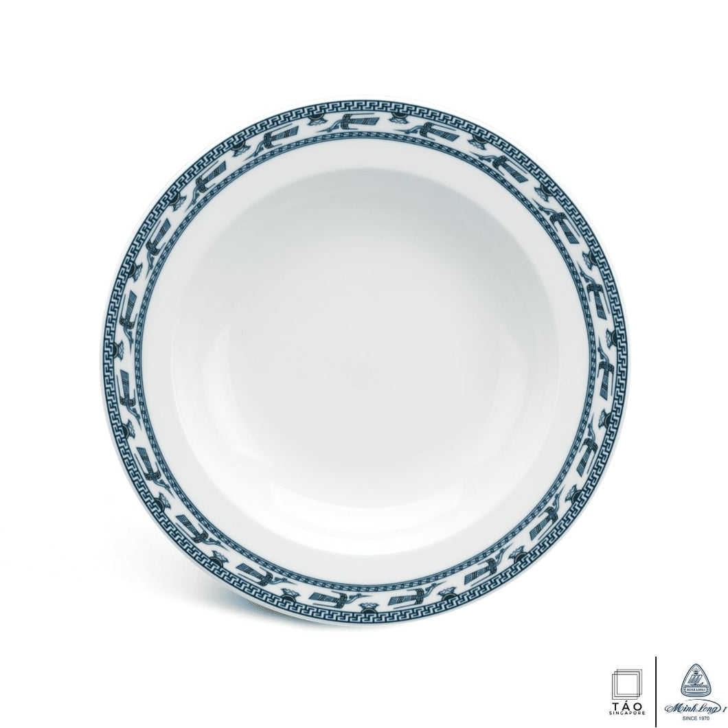 Annam Bird: Deep Soup Plate 23cm (Minh Long I)