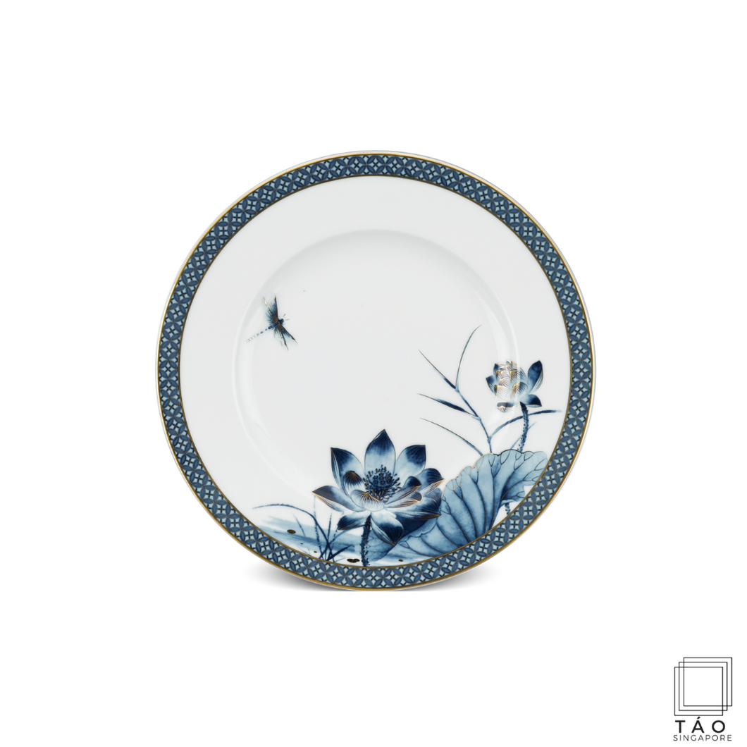 Golden Lotus: Flat Round Plate (20cm)