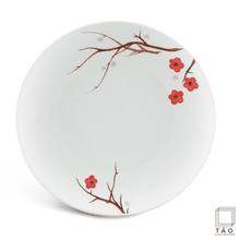 Load image into Gallery viewer, Pink Ochna Flat Round Plate 26cm