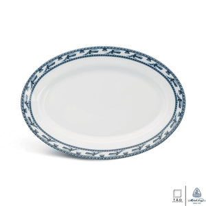 Annam Bird: Oval Plate 28cm (Minh Long I)
