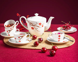 Tea Pot Set (Pink Ochna) (4831041126500)