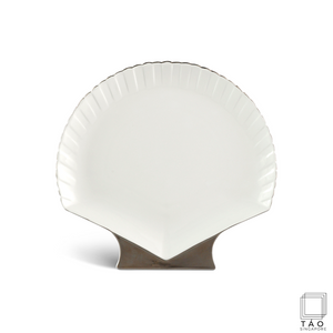 Fish & Clam: Shell-Shaped Plate (28cm) (4803418292324)