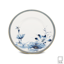 Load image into Gallery viewer, Golden Lotus: Flat Round Plate (28cm) (4802822176868)