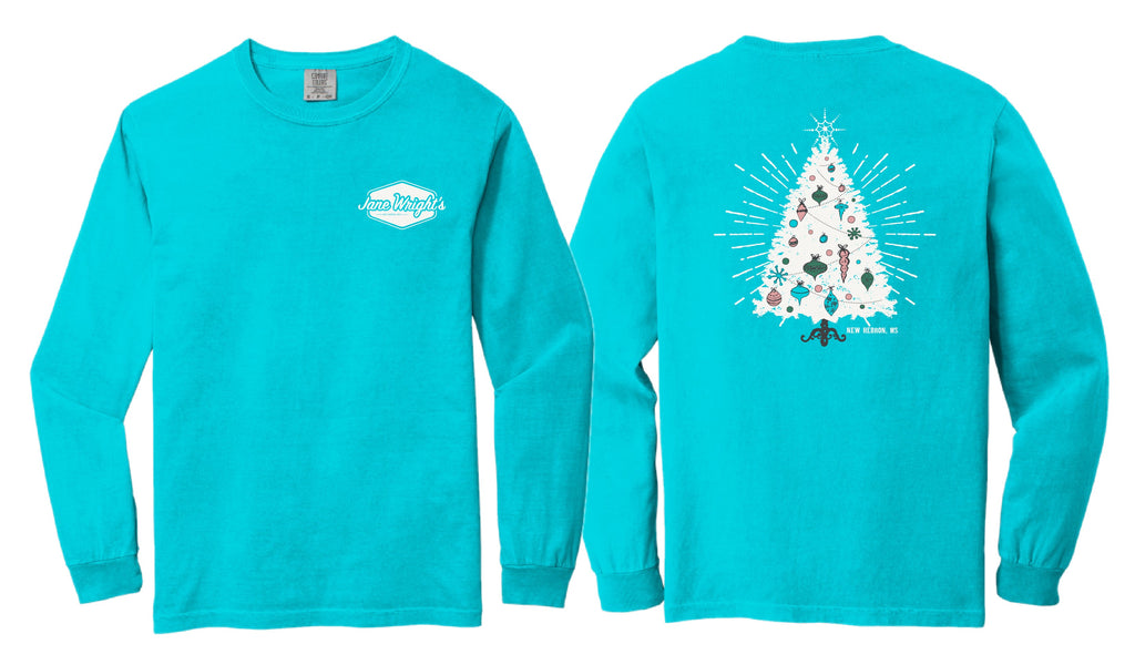 Jane Wright's Christmas Long Sleeve Tee Shirt in Comfort Colors