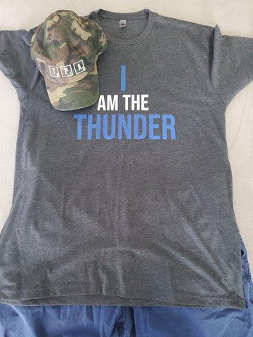 I AM THE THUNDER Tee & TPA Camouflage Cap