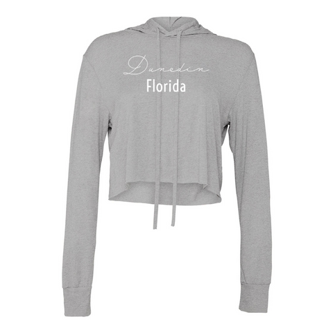 Dunedin Women's Grey Crop Top Hoodie