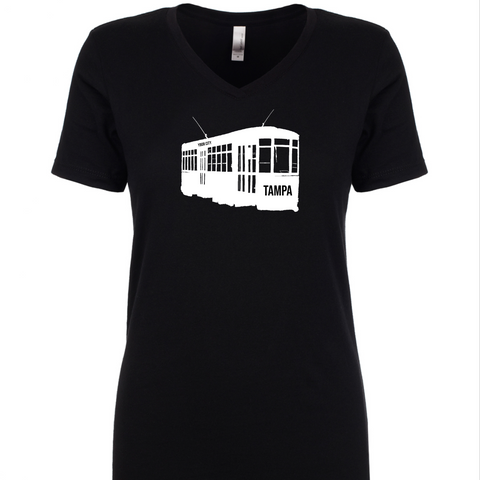 Ybor City Streetcar Women's V-neck