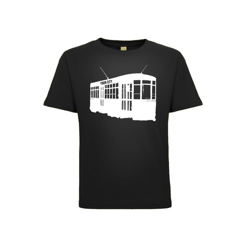 Ybor Streetcar Toddler Tee Black