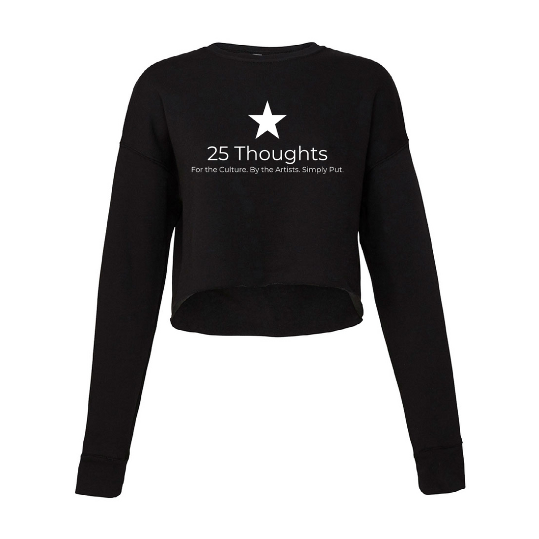 25 Thoughts Crop Top Sweater