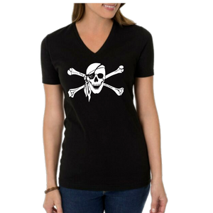 Party Like A Pirate Ladies V-Neck