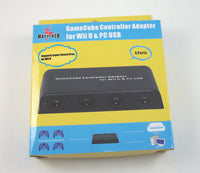 NEW Mayflash 4 Controller Port Wii U Gamecube Adapter Wii U PC Super Smash Bros