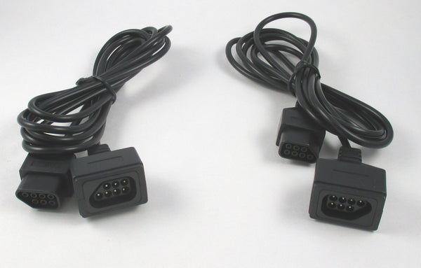 Original Nintendo NES Controller Extension Cable Cord 6 Feet LOT OF 2