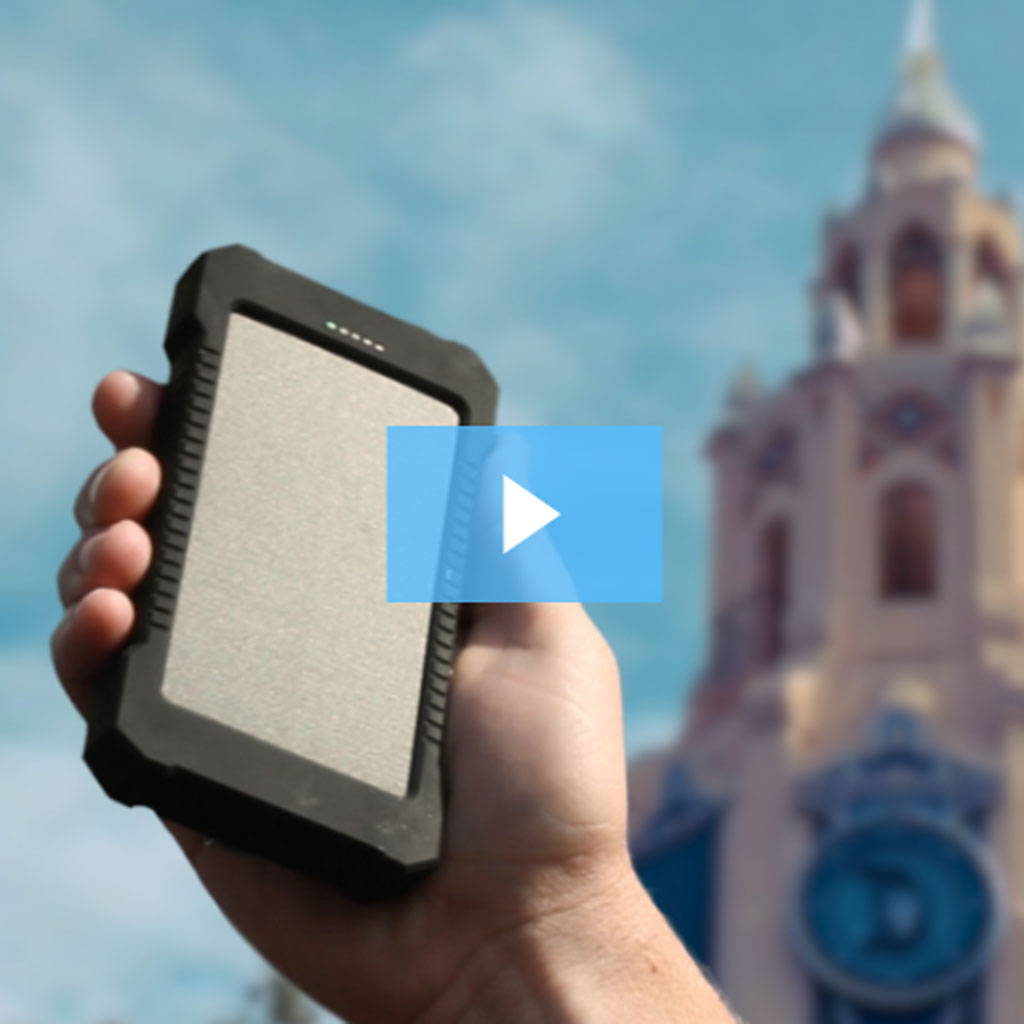 OUR 5″ SOLAR PANEL GOES TO… DISNEYLAND?