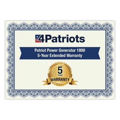 Patriot Power Generator 5-Year Warranty