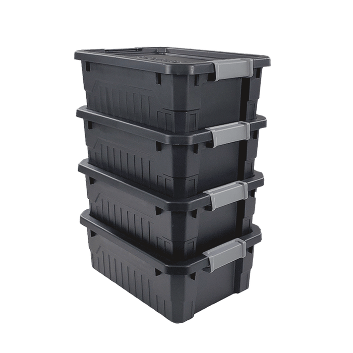Small Stackable Storage Totes (4-Pack)