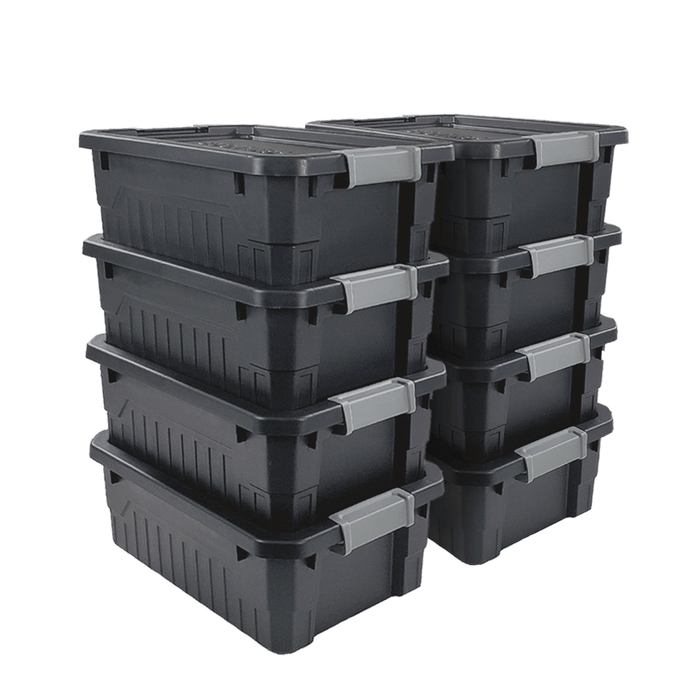 Small Stackable Storage Totes (8-Pack)