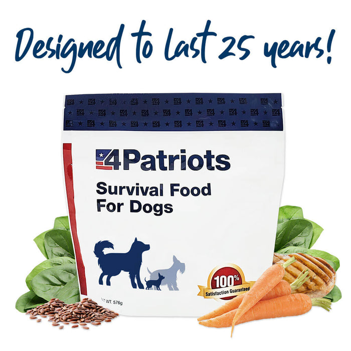 Survival Food for Dogs - 150 Cup Supply
