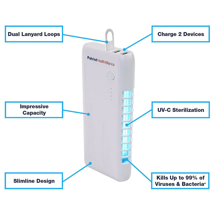 Patriot PowerUV Disinfecting Power Bank - 4 Pack