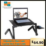 Adjustable Aluminum Laptop Desk Ergonomic