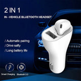 Car Bluetooth Headset BT 5.0 Charger