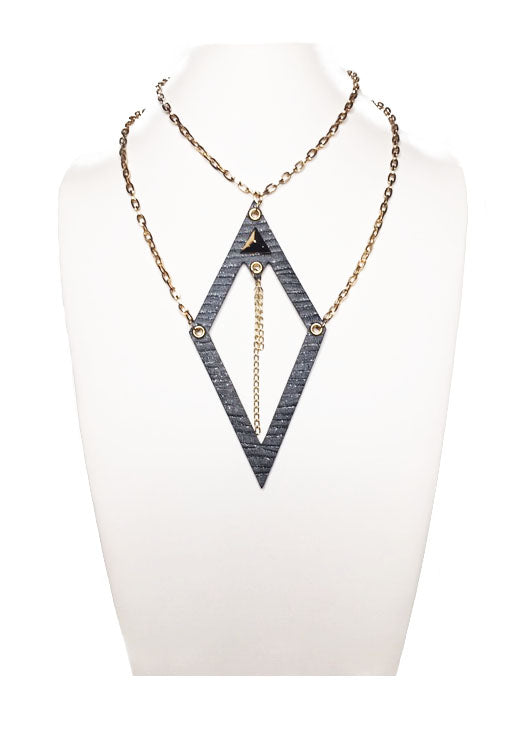 Bella Necklace-Black and Gold