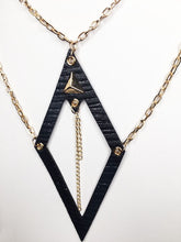 Load image into Gallery viewer, Bella Necklace-Black and Gold