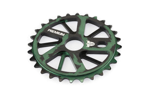 Product image Premium Gnarstar Sprocket 28t Smoke Green 3qtr