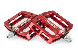 Product image Premium Slim Alloy Pedals Red 3qtr