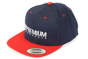 Product image Premium Snap Back Hat Logo Red White Blue