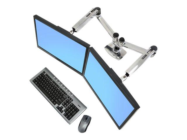 Ergotron LX Dual Side-by-Side Arm Silver